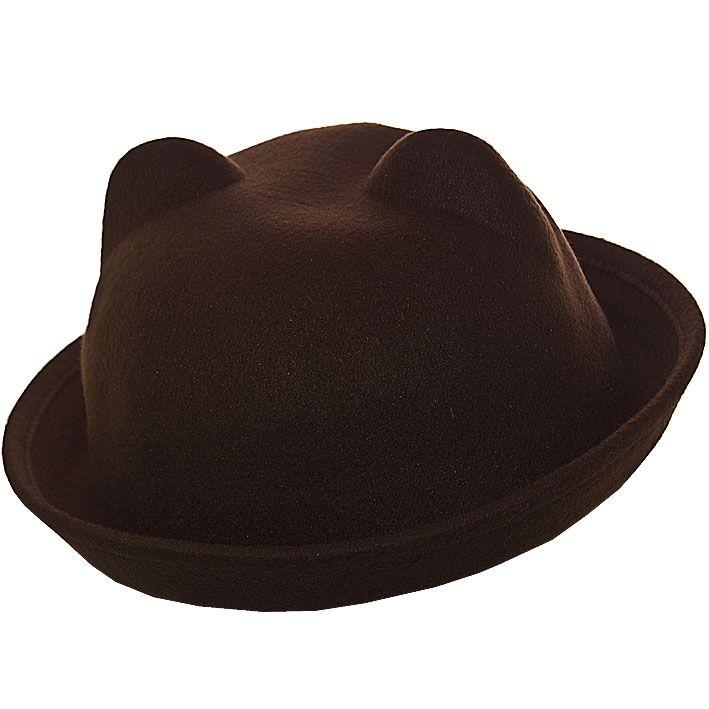 Шляпа фетровая F16001 тёмно-коричневый