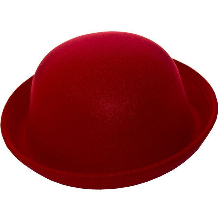 Шляпа фетровая F16002 красный