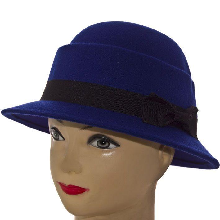 Шляпа фетровая F16003 синий