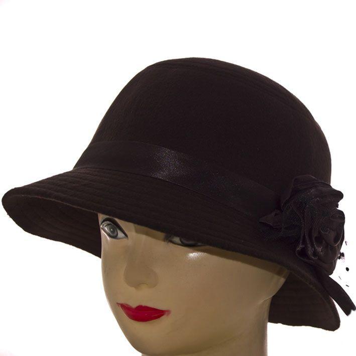 Шляпа фетровая F16007 чёрный