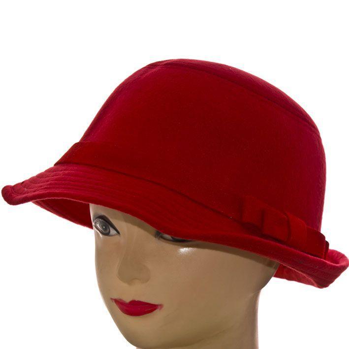Шляпа фетровая F16009 красный