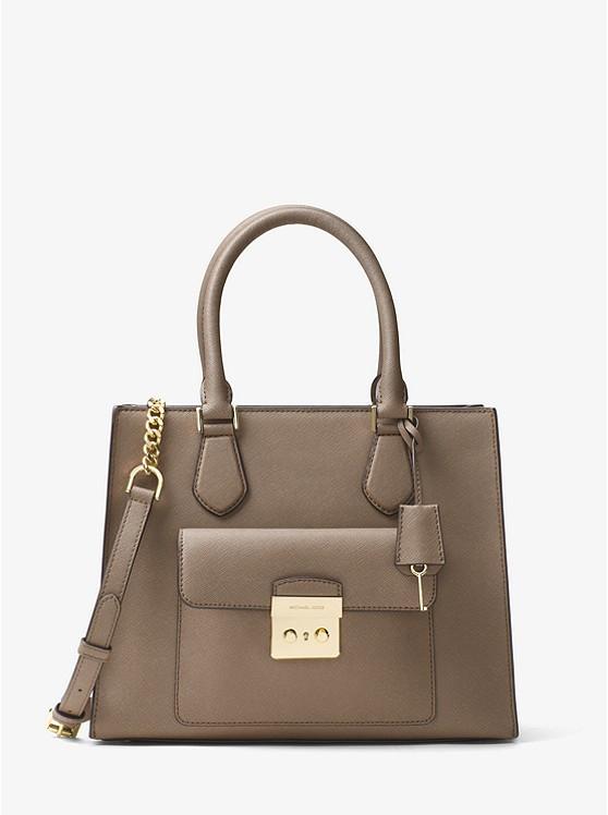 a4d445b17f2d Сумка Michael Kors Bridgette Medium Saffiano Leather Tote brown 30T7GBDT2L  - Интернет-магазин брендовых часов