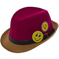 Шляпа фетровая детская FD16003 малиновый