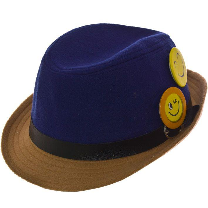 Шляпа фетровая детская FD16003 электрик