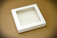 Коробка для печенья 150*150*30 мм. с прозрачным окном!