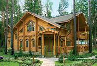 Дома и бани из ОЦИЛИНДРОВАННОГО бревна. Украина, экспорт.