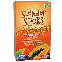 Now Foods, Real Food, Стройные палочки, тропический пунш с клетчаткой, 12 палочек, 5 г каждая