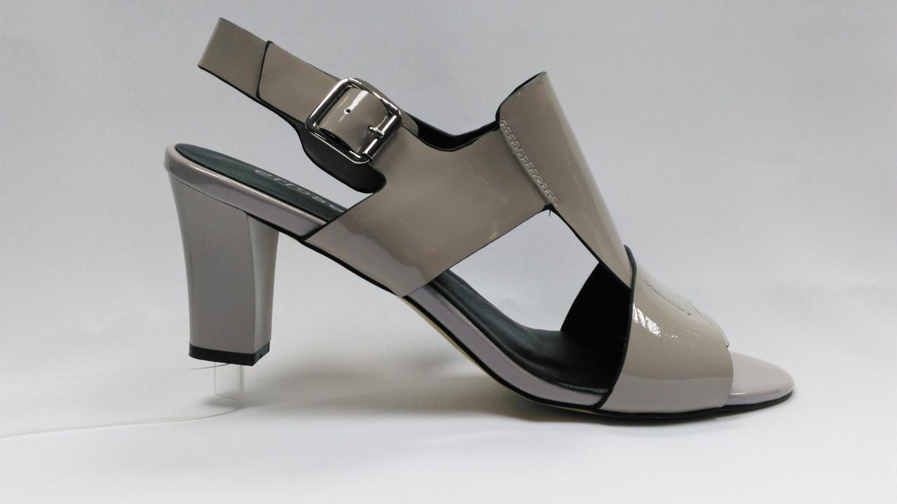 Кожаные босоножки на каблуке. Erisses. Большие размеры ( 40 - 43 ).