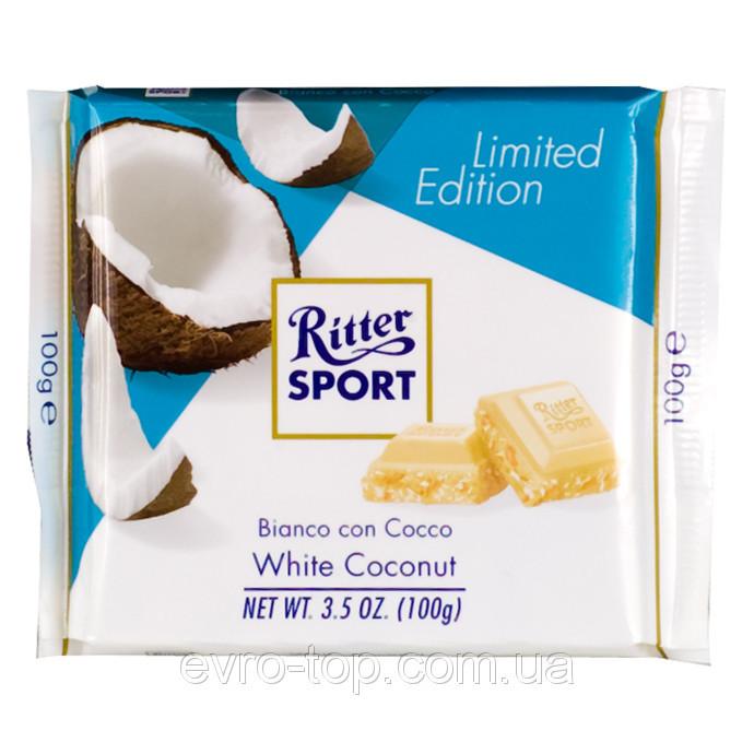 Шоколад RITTER SPORT белый с какосом