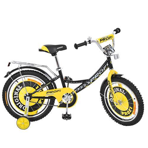Двухколесный велосипед PROFI 16 дюймов G1643 Original boy черный