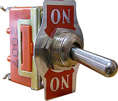 Тумблер 1121 Вкл-Вкл 2-положения х 3-контакта