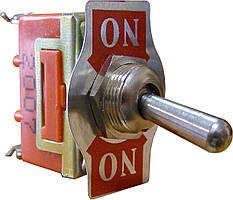 Тумблер АСКО-УКРЕМ 1121 Вкл-Вкл 2-положения х 3-контакта