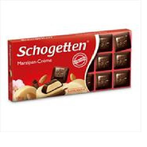 Шоколад Schogetten черный марципановый крем с алкоголем 100г