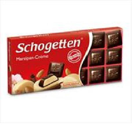 Шоколад Schogetten черный марципановый крем с алкоголем 100г, фото 2