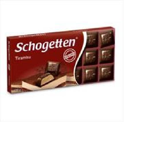 Шоколад Schogetten черный с начинкой тирамису 100г