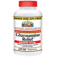 21st Century, Glucosamine Relief, максимальная добавка, 1000 мг, 240 таблеток