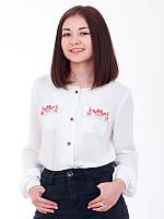 Льняная блуза Пелагея для девочки (рост 146-158)