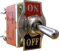 Тумблер АСКО-УКРЕМ 1221 Вкл-Выкл 2-положения х 4-контакта