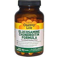 Country Life, Формула глюкозамина и хондроитина, 90 капсул