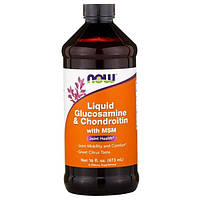Now Foods, Жидкий Глюкозамин и Хондроитин с Метилсульфонилметаном, 16 унций (473 мл)