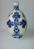 Графин для святой воды, 700 мл, фарфор, роспись кобальтом, подарок на церковный праздник, фото 1