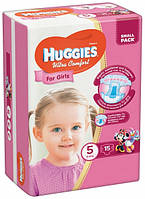 Подгузники Huggies Ultra Comfort 5 (12-22кг) для девочек 15 шт.