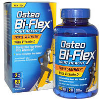 Osteo Bi-Flex, Joint Health, здоровье суставов, тройная сила с витамином D, 80 таблеток в оболочке