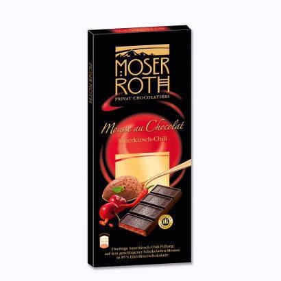 Шоколад Moser Roth Sauerkirisch-Chili черный вишня+перец 187,5г, фото 2
