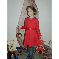 Нарядное платье для девочки с украшением и поясом в комплекте