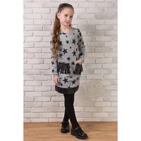 Платье для девочки с карманами из эко-кожи (2 расцветки)