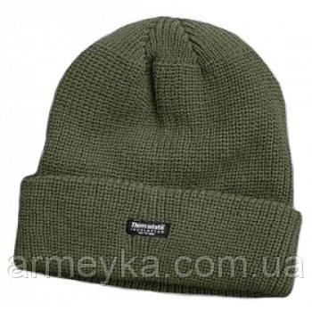 Зимняя шапка акрил+Thinsulate+флис, олива. Mil-tec, Германия.