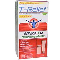 MediNatura, T-Relief, арника +12 натуральных ингредиентов, 1,76 унции (50 г) - 2 предмета