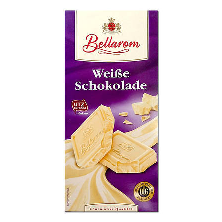 Шоколад Bellarom White Schkolade белый 200г, фото 2