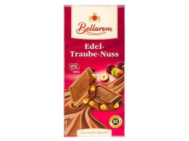 Шоколад Bellarom Edel-Traube-Nuss молочный с изюмом и цельным фундуком 200г, фото 2