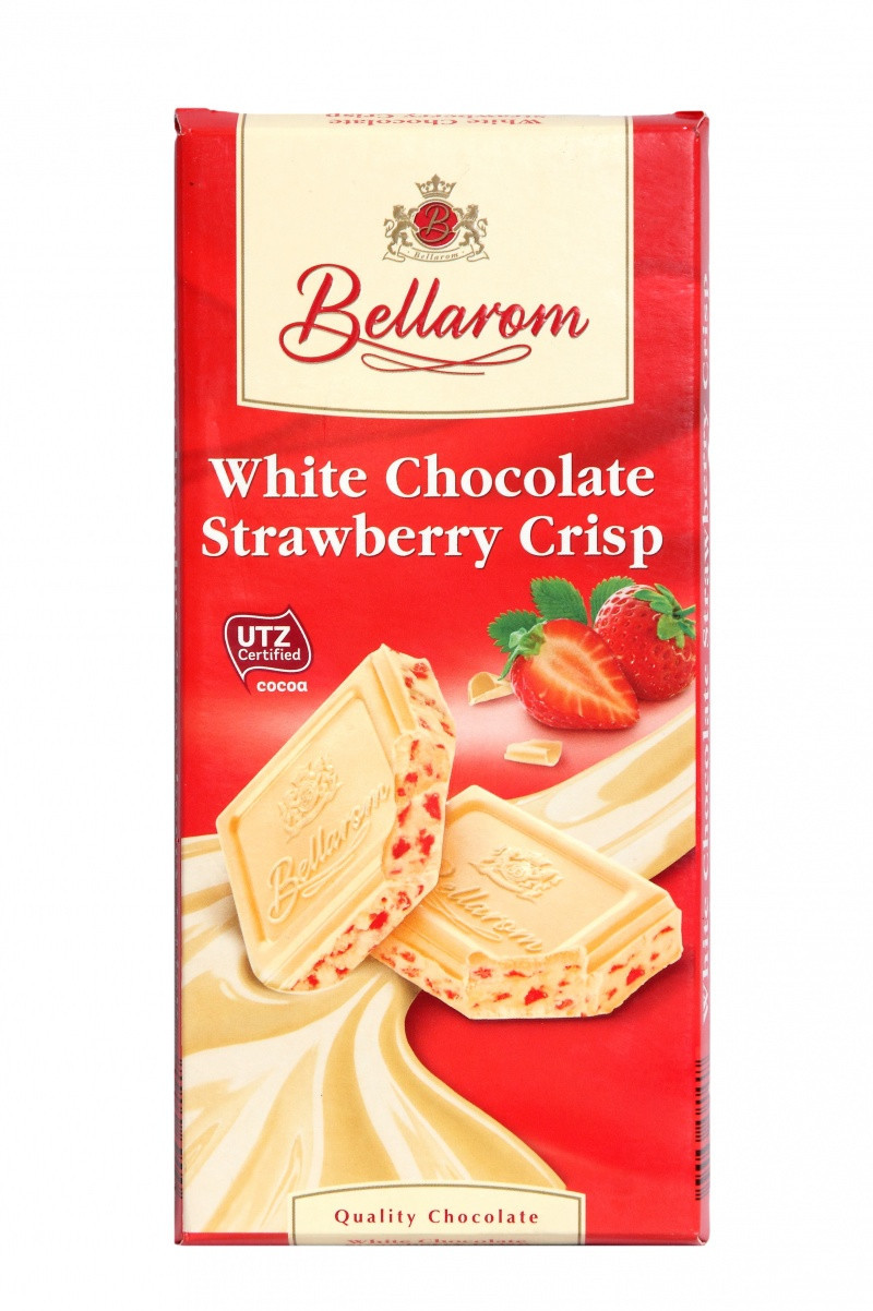 Шоколад Bellarom White Сhkolade Strawberry Crisp белый с клубникой 200г