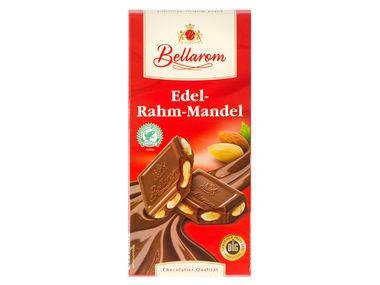 Шоколад Bellaraon Rahm Mandel молочный с миндалем 200г, фото 2
