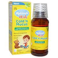 Hylands, 4 Kids, средство против простуды, 4 жидких унции (118 мл)