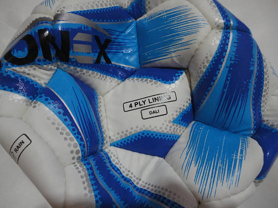 Мяч футбольный Ronex Joma4 бело-голубой, размер 5, фото 2