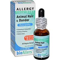 NatraBio, bioAllers, лечение аллергии, шерсть животных и перхоть, 1 жидкая унция (30 мл)