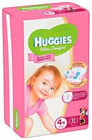 Подгузники Huggies Ultra Comfort 4+ (10-16 кг) для девочек 17 шт.