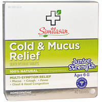 Similasan, Cold & Mucus Relief, 40 Quick Dissolve Tablets