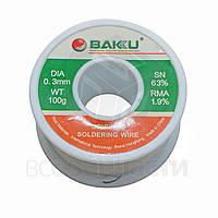Припой BAKU BK-100, Sn 97% , катушка, 0,3 мм, 100 г