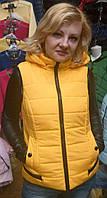 Модный жилет женский на синтепоне  (42-48р), доставка по Украине