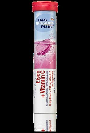 Витамины-шипучки Das Gesunde Plus Eisen+VitaminC, Железо+ВитаминС 20таб 82г, фото 2