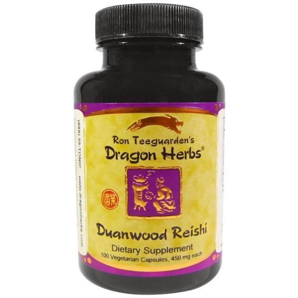 Dragon Herbs, Duanwood Reishi, 450 мг, 100 веганских гелевых капсул