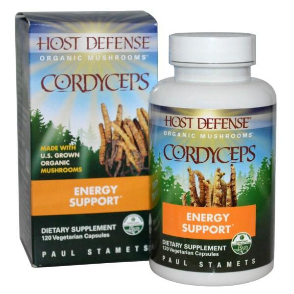 Fungi Perfecti, Host Defense, Кордицепс, 120 растительных капсул