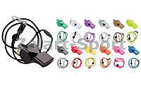 Свисток судейский пластиковый FOX40-9703 PEARL (на шнуре, цвета в ассортименте)