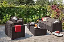 Комплект садовой мебели California 3 seater, коричневый, фото 2