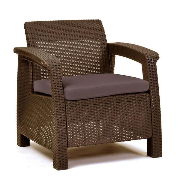 Кресло пластиковое Corfu, коричневое