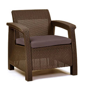 Кресло пластиковое Corfu, коричневое, фото 2